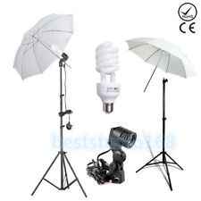 225W Photo Studio Umbrella Light Stand Bulb Continuous Lighting Lamp Kit Set UK