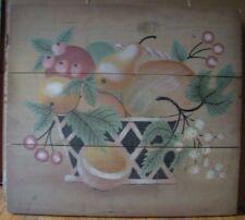 Basket- Still Life on Wood (original) 1993 Windsor Art