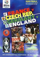 EURO 96 SEMI-FINAL - ENGLAND v GERMANY / FRANCE v CZECH REPUBLIC