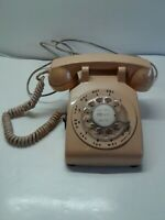 Beige ITT Bell System Western Electric Rotary Desk Phone w/ Cord vintage works