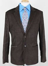 Guess Jeans Men's Corduroy Blazer Brown Color Sz L Lined