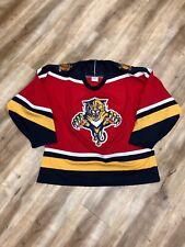 FLORIDA PANTHERS VINTAGE 90s CCM AIR KNIT NHL HOCKEY JERSEY MEDIUM