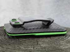 Kydex Wallet With Money Clip Carbon Fiber/Zombie Green