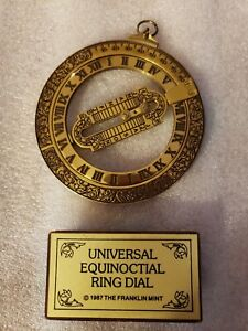 1987 Universal Equinoctial Ring Dial From The Franklin Mint