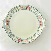 Antique J-R HUTCHENREUTHER SELB Plate - Hand Painted in Bavaria,Germany- Cutouts