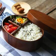 Oval Japanese Bento Boxes Wooden Lunch Box Sushi Portable Bowl Food Container