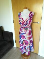 Ladies TEATRO Dress Size 20 Pink Blue Chiffon Party Wedding Evening