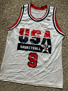 MICHAEL JORDAN 1992 USA Dream Team Olympics basketball Jersey 40 Champion