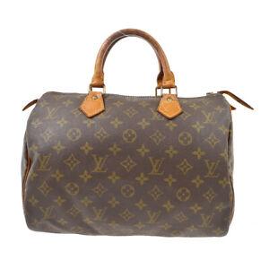 LOUIS VUITTON SPEEDY 30 HAND BAG PURSE MONOGRAM CANVAS M41526 841SA  61787