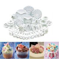 33Pcs Set Sugarcraft Fondant Cake Decorating Plunger Cutters Tools Mold Cookies
