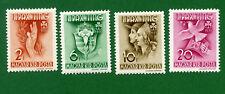 Hungary 4 stamps, SC 551 - 554,  Girl Scout Jamboree at Godollo, 1939, MNH
