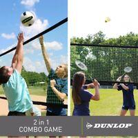 Dunlop Premium Quick Setup Steel Poles Volleyball & Badminton Combo Set outdoor
