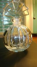 Vintage Crystal Perfume Bottle with A Crystal Stopper  GERMANY