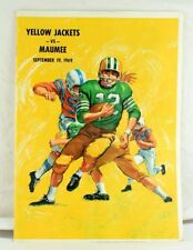 1969 Maumee High School Ohio Football Program VS Yellow Jackets Pepsi Ad
