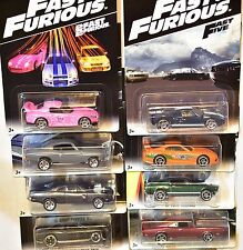 HOT WHEELS 2016 FAST & FURIOUS COMPLETE SET OF 8 TOYOTA HONDA MUSTANG BAD CARD