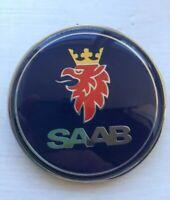 Blue SAAB 68mm BONNET BADGE 3 PIN Front 93 9-3 2003-2010