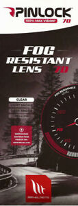 MT Helmets Max Vision Clear Pinlock Insert Fits Blade 2 Rapide Targo MT V-14