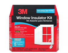 3M Indoor Window Insulator Window Film Kit 3' x 5' Five Windows NEW
