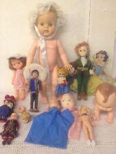 Lot VTG Dolls Playmates Crawling Effanbee Peter Pan Sleepy Eyes Puppet British