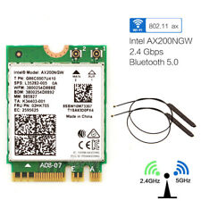 2.4 GBPS Intel Wi-Fi 6 ax200ngw MU-MIMO WIFI Wireless WLAN-BT 5.0+ Antenne