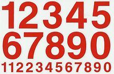 PLANCHE A4 TUNING QUAD 22 AUTOCOLLANT CHIFFRE ROUGE 7 X 4,5 CMS