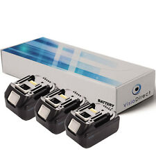 Lot de 3 batteries 18V 3000mAh pour MAKITA BTD141 - Société Française -