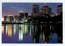 A5119cgt Australia V Melbourne Yarra River at night prepaid postcard