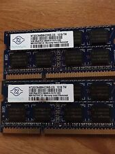 4GB laptop RAM Nanya DDR3 2 sticks 2GB 2Rx8 PC3-10600S-9-10-F2 Laptop RAM SODIMM