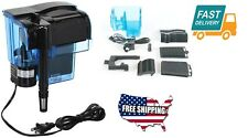 Home Hang-on Aquarium Water Filter gallons Quad Filtration System Unit Tool Fit