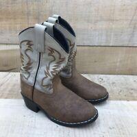 Dan Post Unisex Kids Buckeye Western Boots Brown Mid Calf Pull Ons 11 D