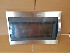 WHIRLPOOL MICROWAVE DOOR ASSEMBLY (STAINLESS)-PART# W10889332
