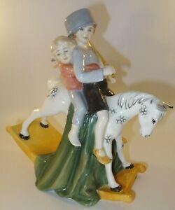 "Vintage Royal Doulton 8"" Figurine HN3298 Hold Tight c1990 Excellent"