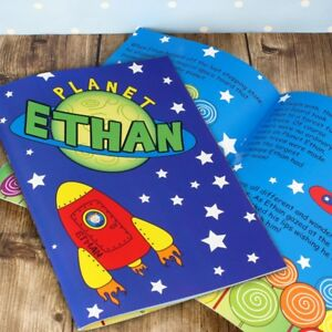 Personalised Space Story Book Softback Christmas Gift Children Boys