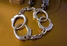 Massiver Sterling Silber handgefertigt groß Keith Richards Handschellen Armband 85-95g