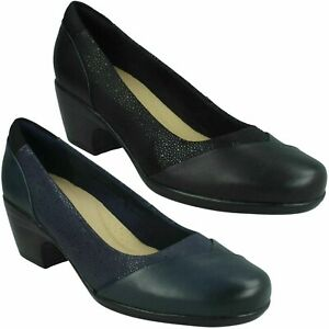 EMILY ALEXA LADIES CLARKS WORK CASUAL SLIP ON COURT SHOES COMFORT EVERYDAY PUMPS