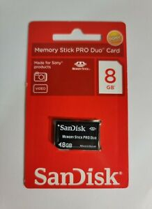 8GB Memory Stick Pro Duo Card SanDisk Made for Sony PSP