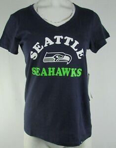 Seattle Seahawks NFL 47 Women's Blue V-Neck Shirt