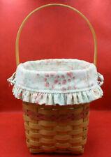 739 2001 Longaberger Vintage Blossoms Basket Set with protector and liner