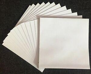 """25 x 159 x 159mm (6x6"""") White 90gsm Square Gummed Greeting Envelopes"""