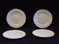 4 Touch of Gold Embassy DoM  White Scroll On White Gold Trim Bread Butter Plates