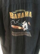 Tommy Bahama Embroidered Washed Silk Cigar Shirt XL (CLEARANCE)