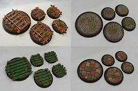 Wargaming Resin Scenic Bases 30mm Round Warhammer 40k, Warmachine, Malifaux