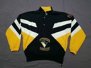 STARTER NHL PITTSBURGH PENGUINS CENTER ICE PULLOVER WINDBREAKER JACKET XL