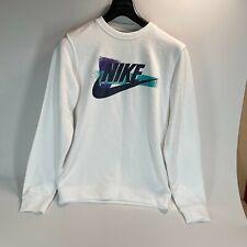 Nike Sportswear Crew Neck Herren Sweatshirt weiß mit Logo Größe UK S-siehe Detail