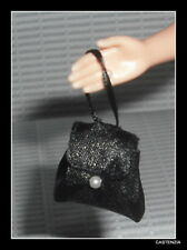 PURSE BARBIE DOLL AUDREY HEPBURN BLACK PEARL HANDBAG PURSE ACCESSORY CLOTHING
