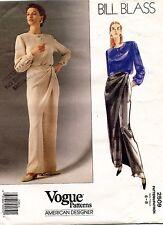 VOGUE Misses' Top & Pants Bill Blass Pattern 2509 6-8 UNCUT