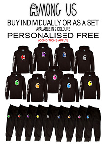 AMONG US inspired MERCH Gaming Hoody &/or Joggies free UK 1st Class Signed Post