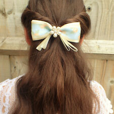 HANDMADE BOWS BOUTIQUE HAIR CLIP PIN ALLIGATOR CLIPS PEARLS BOWS GIRLS WOMEN BOW