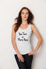 Personalised Custom Printed Ladies Tank Top Vest T-shirt Hen Party T Shirt s,xxl
