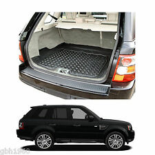Range Rover Sport tailored anti slip thick black rubber boot mat load liner tray